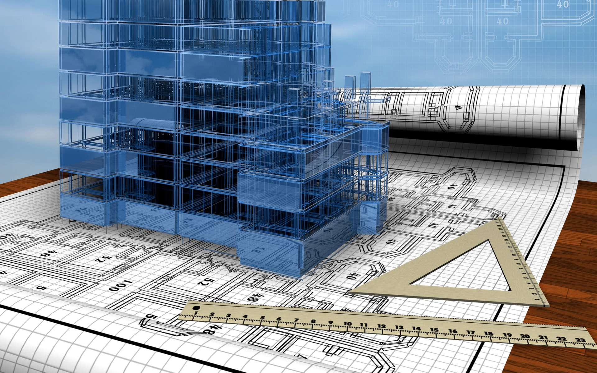 TRM Construction Management 3D-wallpaper-of-building-with-design